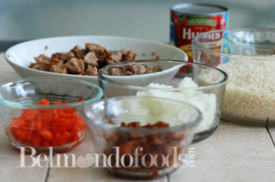 Arroz con salchicha Ingredients