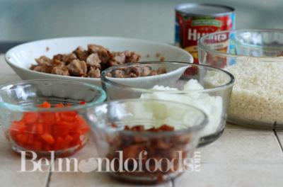 Arroz con salchicha Ingredients
