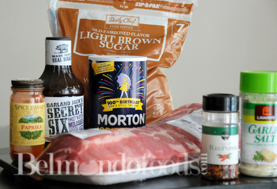 Barbecue Ribs Ingredients